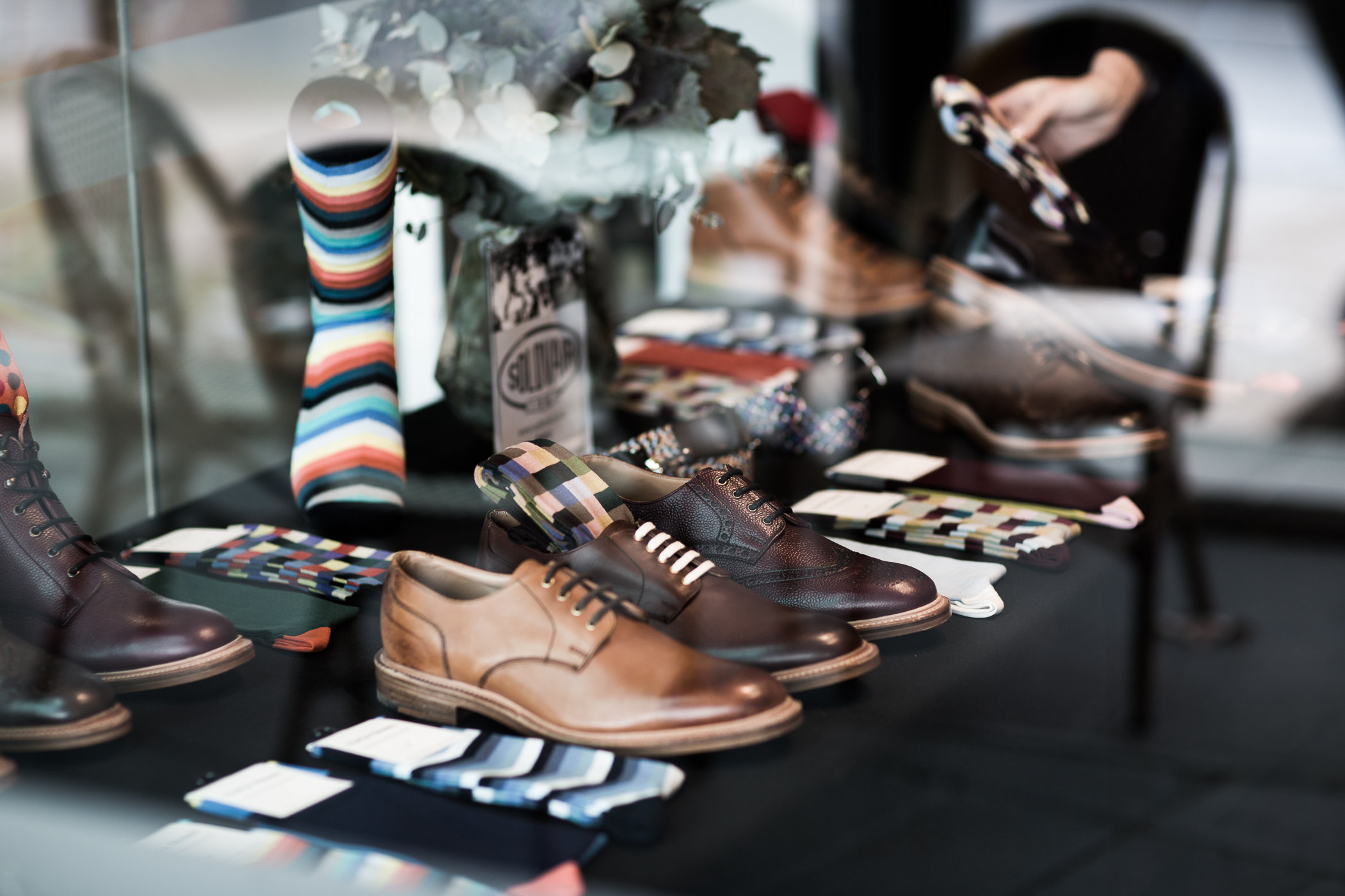 Business suits and shoes for men