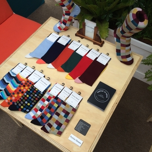socks and tires for men's suits
