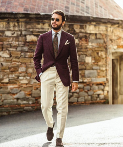 pitti uomo the bespoke dudes fabio attanasio burgundy blazer tailored trousers