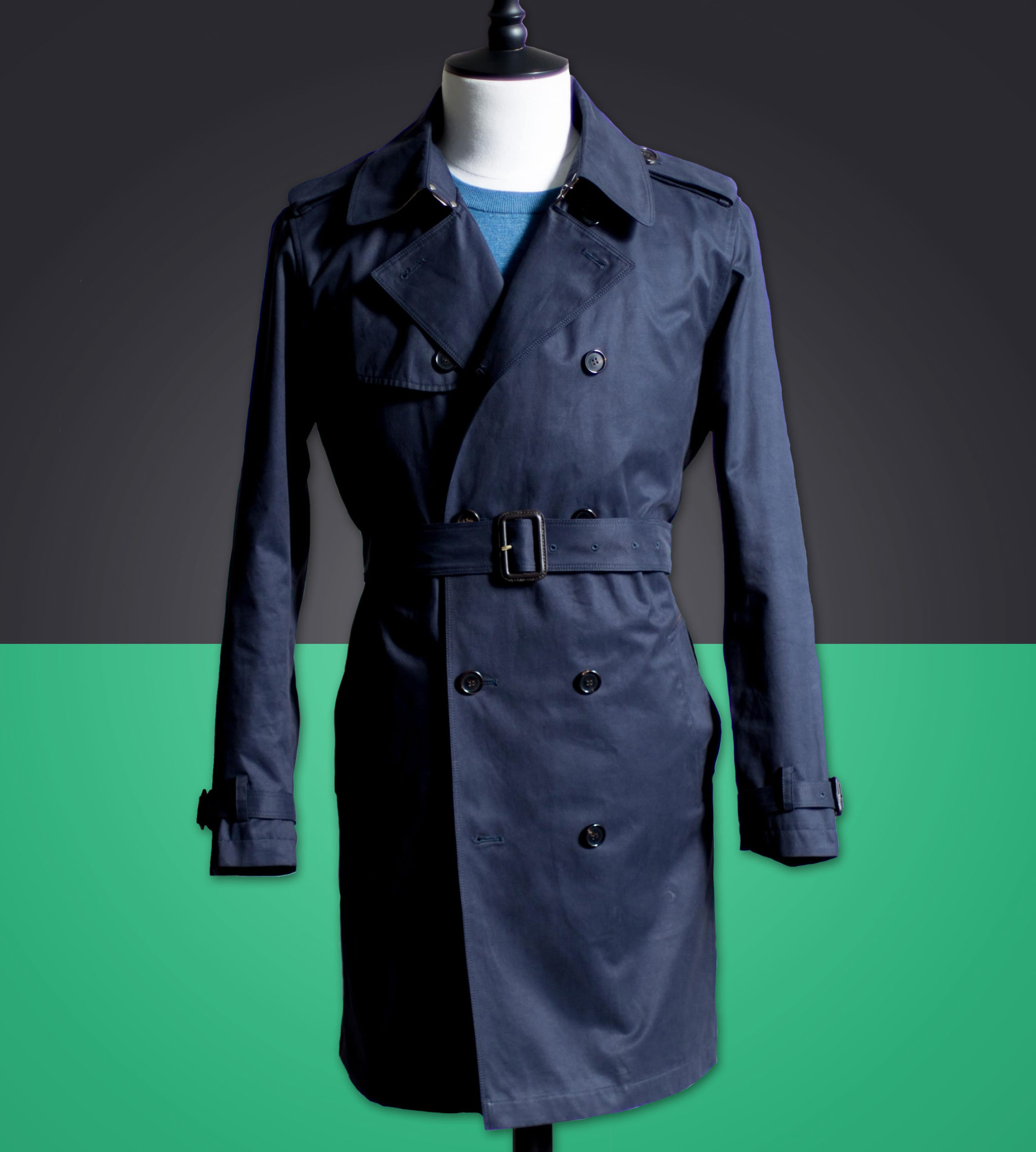 Carl-Nave-Double-Breasted-Trench-Coat-Navy-Melbourne-Bespoke-Tailor