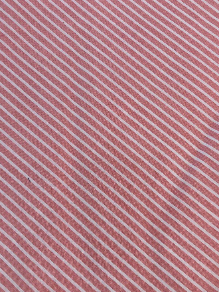 Salmon White Stripe